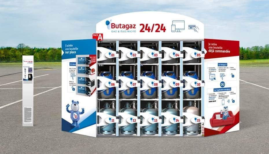 Butagaz 24/24 : un distributeur automatique connecté de bouteilles de gaz
